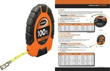 Keson ST181003X Closed-ABS Housing Steel Tape Measures with Speed 100-Feet