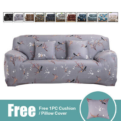 Settee Stretch 2//3 Seater Sofa Cover Elastic Chair Slipcover Furniture Protector