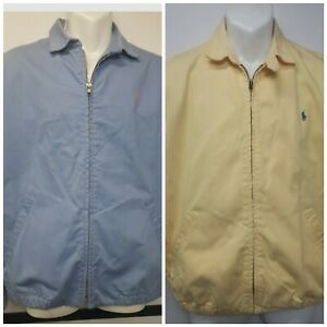 Lot-of-2-Vintage-Polo-Ralph-Lauren-Full-Zip-Harrington-Jackets-Size-Men-s-M