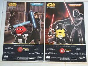 2 M M Posters Double Sided Darth Vader Anakin Skywalker Star Wars Empire M Pire Ebay