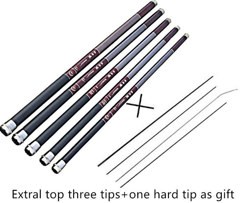 1PCS 7.2M12M Telescopic Fishing Rod Carbon Fiber Fishing Pole Stream Hand rod