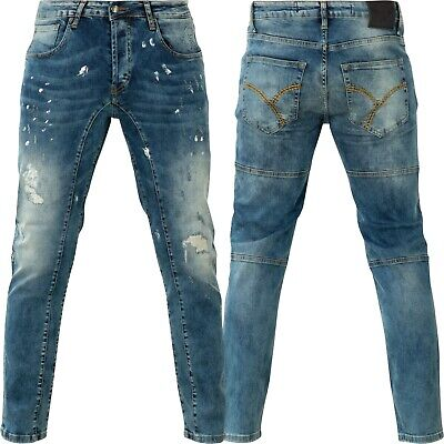 Blue Bronze Destroyed Neue Yakuza Herren 420 Straight Jeans