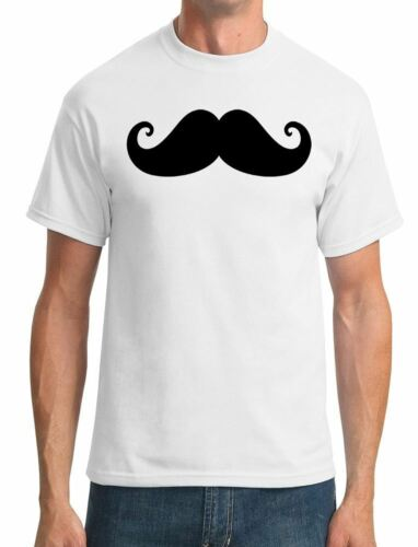 Moustache On A Shirt Mens T-Shirt Funny Facial Hair