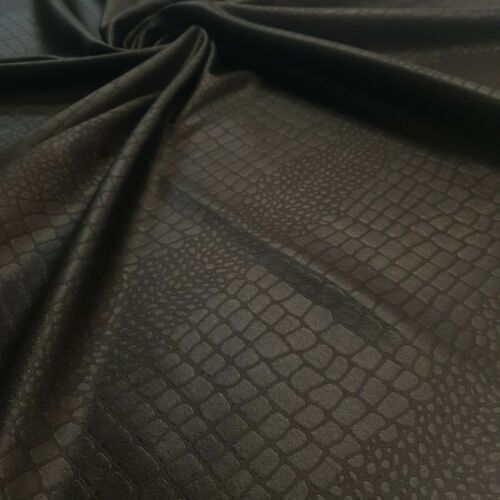4 Metres Black Embossed Animal Plain Scuba Fabric