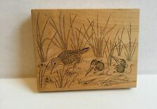 NEW House Mouse Stamp Silly Birds Stampa Rosa #242 wood mounted