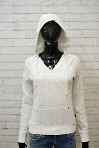 EVERLAST-Felpa-Cappuccio-Donna-Taglia-M-Bianco-Sweatshirt-Maglione-Pullover
