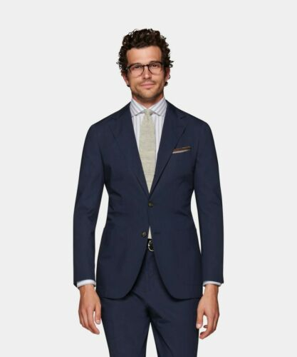 Suit Supply Havana Mid Blue Suit 48L