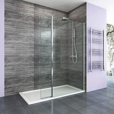 1900mm Wet Room Shower Screen Walk In Enclosure & Flipper Panel Easy Clean Glass