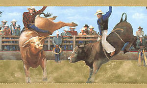 Bull Riding-WALLPAPER BORDER