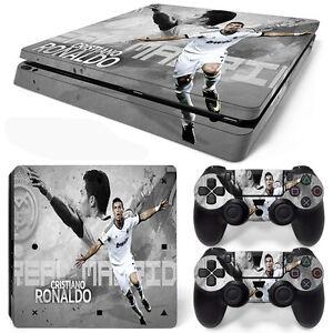 af054939f2be PS4 Slim Console and DualShock 4 Controller Skin Set - Soccer CR7 ...