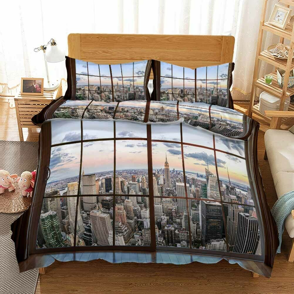 Twilight Glass 3D Printing Duvet Quilt Doona Covers Pillow Case Bedding Sets
