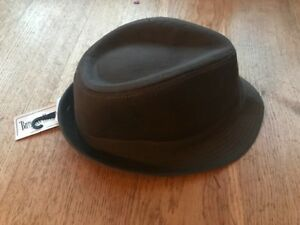Image is loading Burgess-Hats-Dark-Brown-Cotton-Mix-Trilby-Hat- fb056689114
