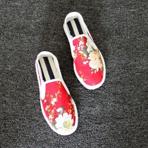 Mens Pumps Floral Printing Walking Driving Slip On Loafers Flat Shoes Chinese