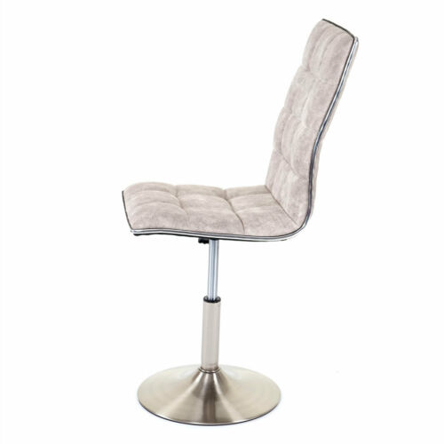 Lehnstuhl 2x Esszimmerstuhl MCW-C41 Textil vintage grau Fuß gebürstet