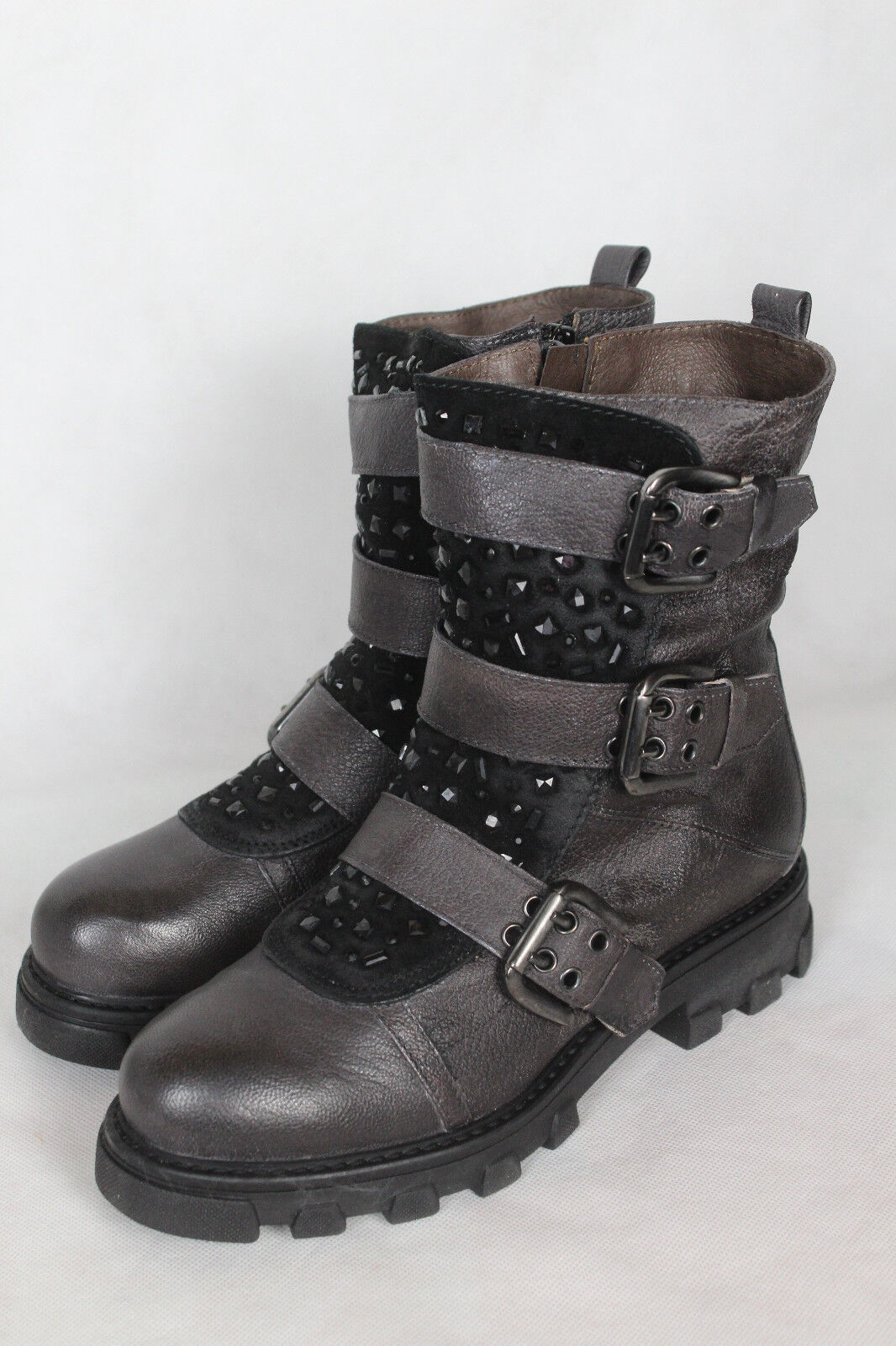 Manas botines, zapatos de piel botines, Manas señora talla 36,neu 159797