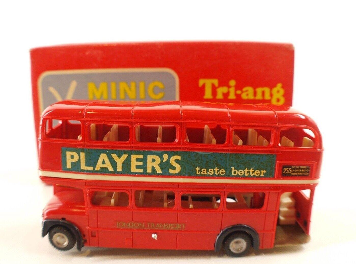 Tri-ang Minic 1M1545 bus player's autorute Autobahn slot car rare boite 11 cm