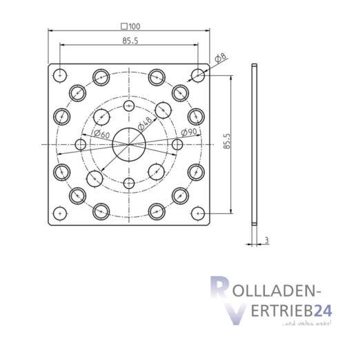 Rademacher Motorlager Medium Antriebslager RTBM Handkurbelanschluss Antriebe