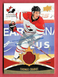 2016-17-Thomas-Chabot-Upper-Deck-Team-Canada-Juniors-Auto-Patch-104-199