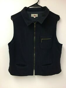 L-L-Bean-Women-039-s-Vintage-Wool-Vest-Medium-Made-in-USA-LL-Casual-Comfort-Outdoor