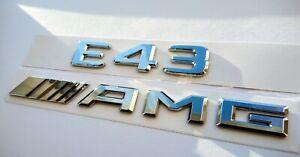 Mercedes-E43-AMG-chrome-Schriftzug-Embleme