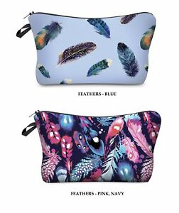Cosmetic-Bag-Colourful-Feathers-Makeup-Bag-Pencil-Case-Travel-Pack
