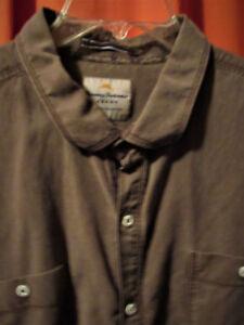 LonguesTaille Marron XxlMélanges Jeans Manches Décontracté Tommy Bahama coton de Shirt dCeWQxBEro