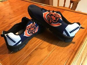 0faf83d6 Details about Chicago Bears Big Logo Low Top Sneakers Team Color Shoes US  Men's Sizing