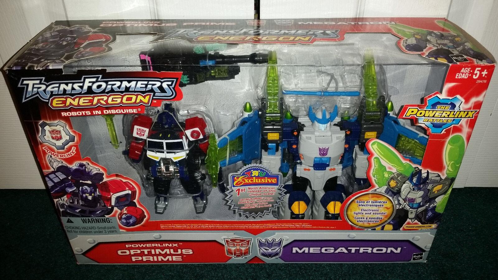 Optimus Prime vs Megatron Energon Transformers Hasbro TRU Toys R Us MISP  2004