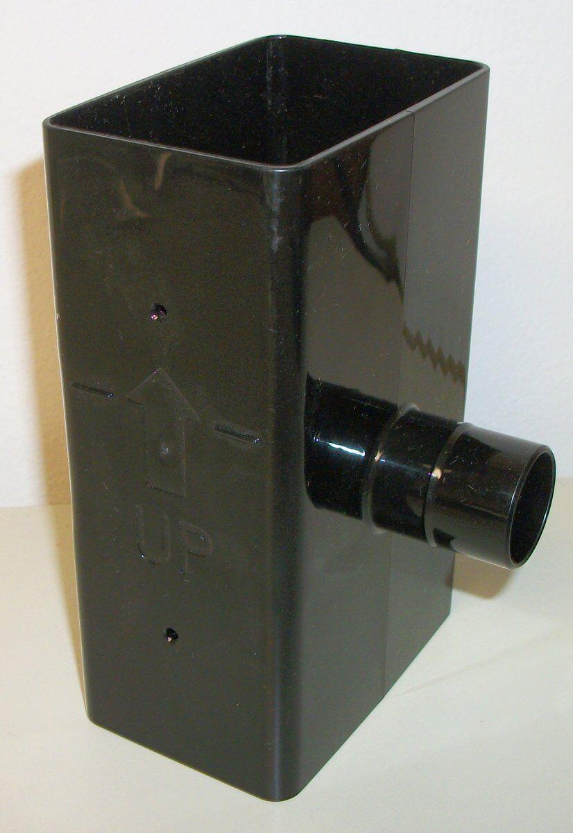 Black Plastic Rain Collection Barrel Divertor Diverter for 2