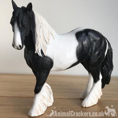 Large Piebald Gypsy Cob Horse Gift Figurine Ornament Figure