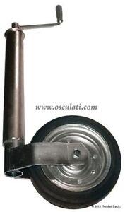 Ruotino carrello rimorchio ITALY 60mm acciaio zincato rinforzata per uso pesante