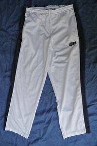 PUMA-WhiteTrackpants-Size-Medium-Navy-Blue-Side-Stripe-NEW