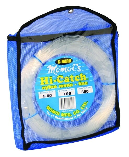 NEW Momoi X-Tra Hard Leader Material 600Lb 100Yds Clear White 11600