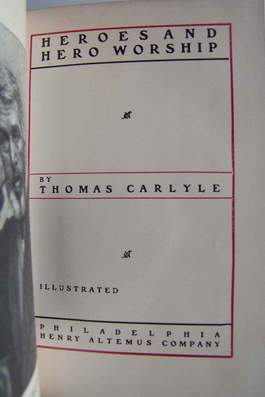 Heroes and Hero Worship Thomas Carlyle