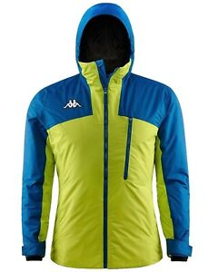 Kappa-Men-039-s-8cento-827-Technical-Ski-Snowboard-Jacket-Regular-Fit-Lime-Blue