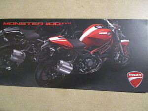 CATALOGUE MOTO : DUCATI : MONSTER 1100 EVO  10/2010   - ITALIEN ET ANGLAIS -