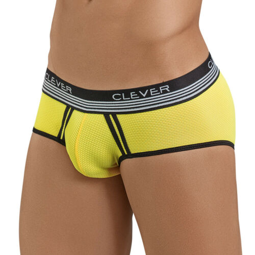 Clever Moda Piping Brief Lovely Yellow Men/'s Underwear