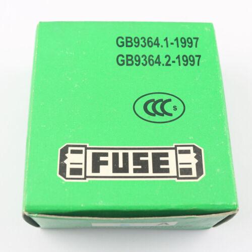 20Pcs 6mm x 30mm Quick Blow Glass Fuses 250V 5A