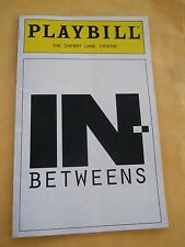 Feb. 1997 - Cherry Lane Theatre Playbill - In-Betweens - Tony Cucci