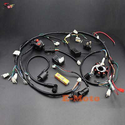 lifan 200cc atv wiring complete electrics atv quad 150 200cc 250cc 300cc wiring harness  150 200cc 250cc 300cc wiring harness