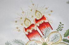 CHRISTMAS GOLD METALLIC GLAMOUR & LATTICE CUTWORK! GERMAN TABLECLOTH