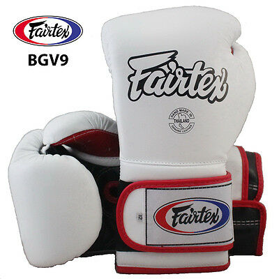 FAIRTEX GLOVES MUAY THAI KICK BOXING MMA BGV9 RED COLOR PRO TRAINING MEXICAN
