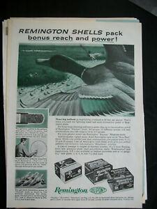 VTG-1960-Orig-Magazine-Ad-Remington-Gun-Shells-Pack-Bonus-Reach-amp-Power