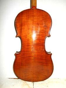 Antique-Old-Vintage-German-034-Markneukirchen-034-2-Pc-Back-Full-Size-Violin-NR