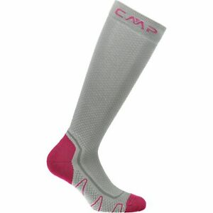 AgréAble Cmp Chaussettes De Sport Trekking Sock Poly High Gris Respirant Unicolore-afficher Le Titre D'origine