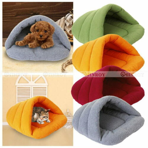 Pet Bed Pet Cave Half Covered Soft Cozy Sleeping Bag Mat for Dogs Cat