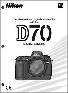 nikon d70 user manual guide instruction operator manual ebay rh ebay com nikon d70s pdf manual nikon d70s owners manual
