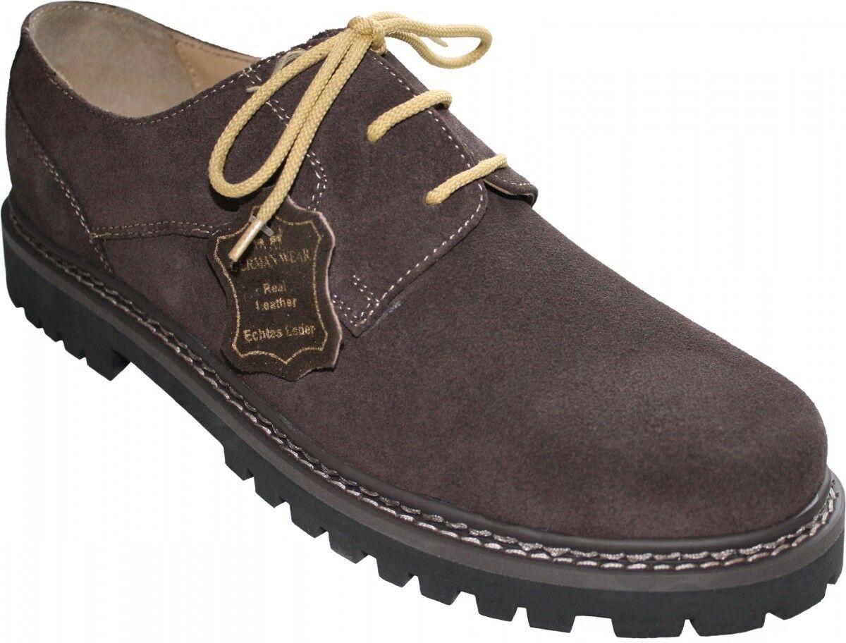 German Wear, Trachtenschuhe Trachtenschuhe Trachtenschuhe Haferlschuhe echtem Leder Schuhe dunkelbraun 5121ad
