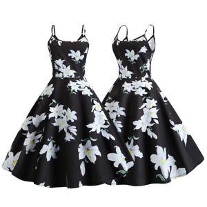 Women-Floral-Strapless-Dress-Summer-Evening-Party-Retro-Vintage-Cocktail-Dresses