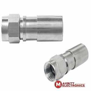 Pack-of-10-F-male-Compression-Connectors-Plugs-for-RG6-Coaxial-Cable